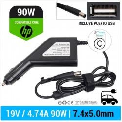 CARREGADOR DE CARRO HP | 19V / 4.74A | 7.4 x 5.0mm | 90W...