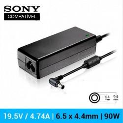 CARREGADOR SONY COMPATÍVEL   19.5V / 4.74A   6.5 x 4.4mm...