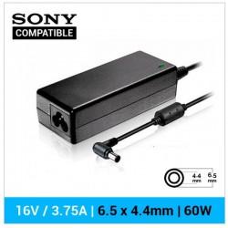 CARREGADOR SONY COMPATÍVEL | 16.0V / 3.75A | 6.5 x 4.4mm...