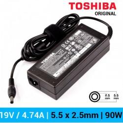 CARREGADOR TOSHIBA ORIGINAL | 19V / 4.74A | 5.5 x 2.5mm...