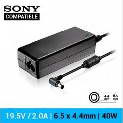 CARREGADOR SONY COMPATÍVEL | 19.5V / 2.0A | 6.5 x 4.4mm...